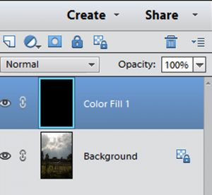 Simplified Solid Colour Adjustment Layer
