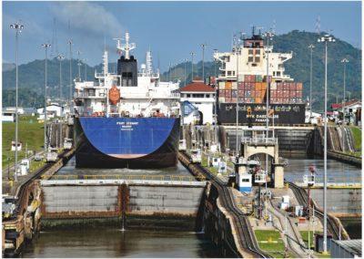 Cargo Ships Panama Canal-Geoff Whitelocks