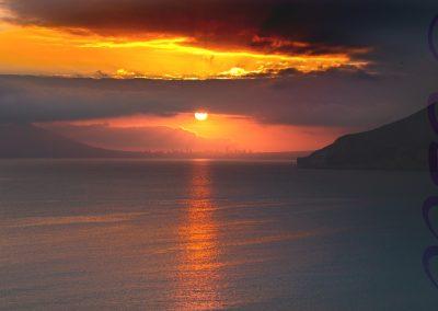 Sunset Over Benidorm-Roger Leck