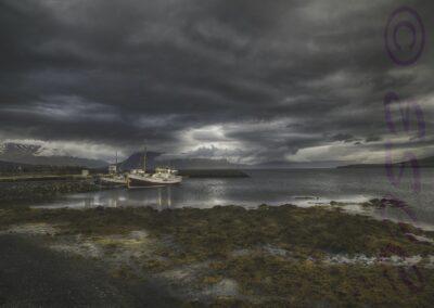 Hauganes Fishing Boat Iceland-Julie Holbeche Maund