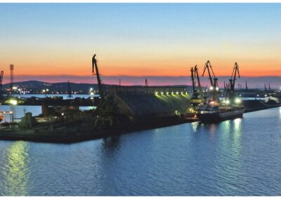 Port Of Burgas Bulgaria-Geoff Whitelocks